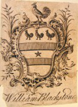 Image: Bookplate of Sir William Blackstone