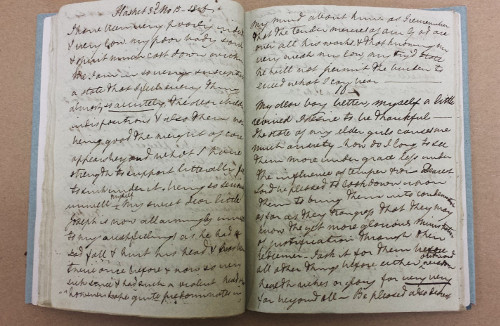 Photo of Diary of Elizabeth Fry, volume 10 (MS Vol. S 264)