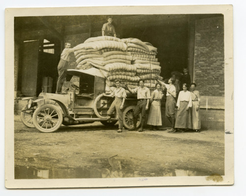 WWI relief – sending out 44 mattresses from the depot