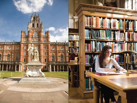 Photograph of the Library at Royal Holloway, University of London