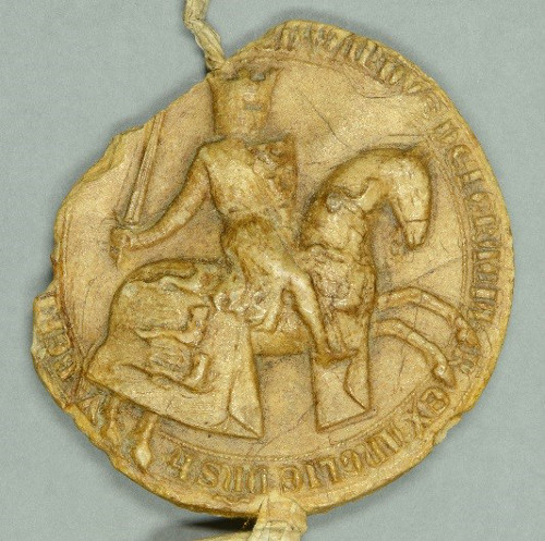 King John Seal, Magna Carta, 1300 (DCL 2.2.Reg.2 ) ©Chapter of Durham Cathedral