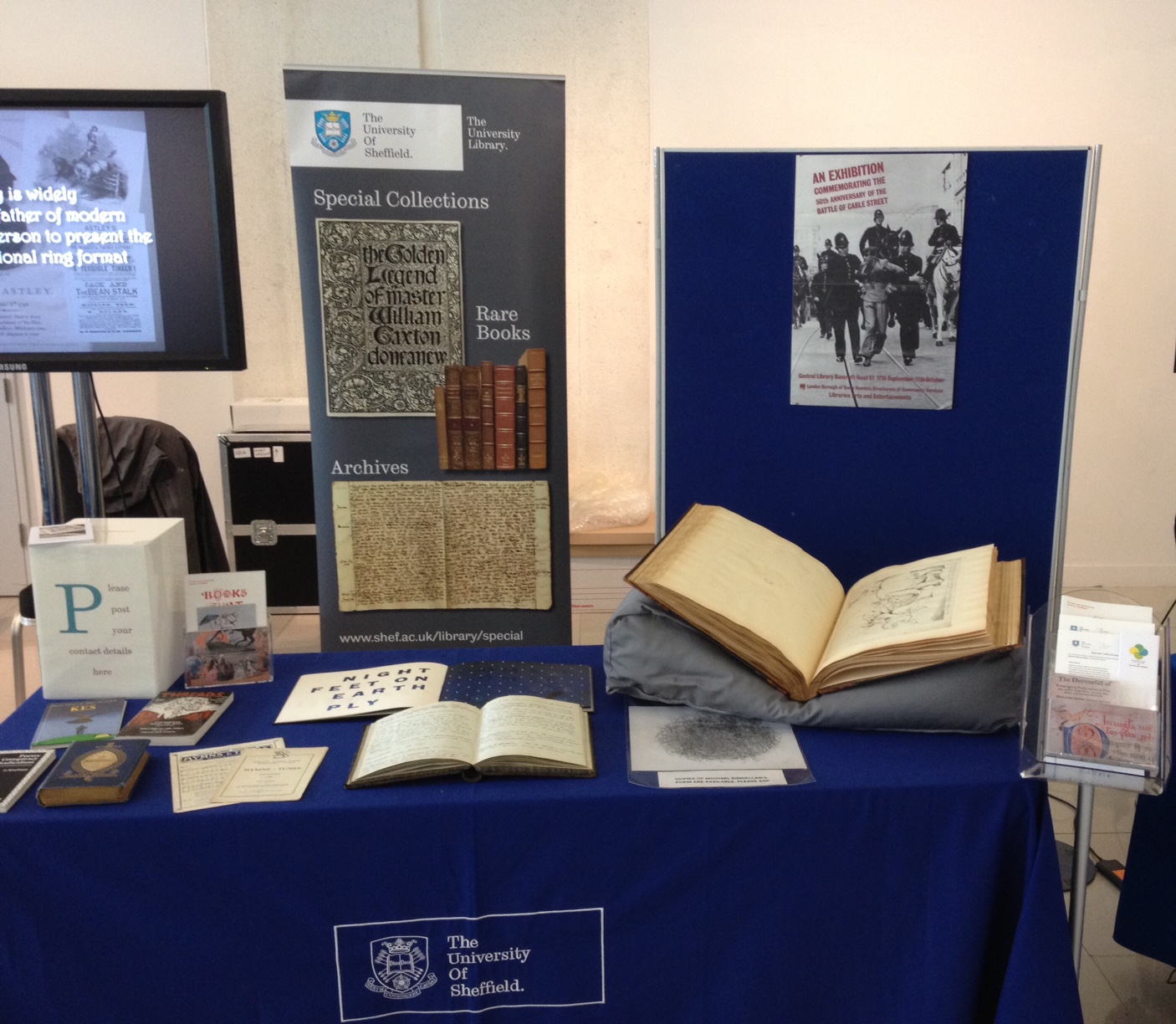 Photo of the Special Collections stall