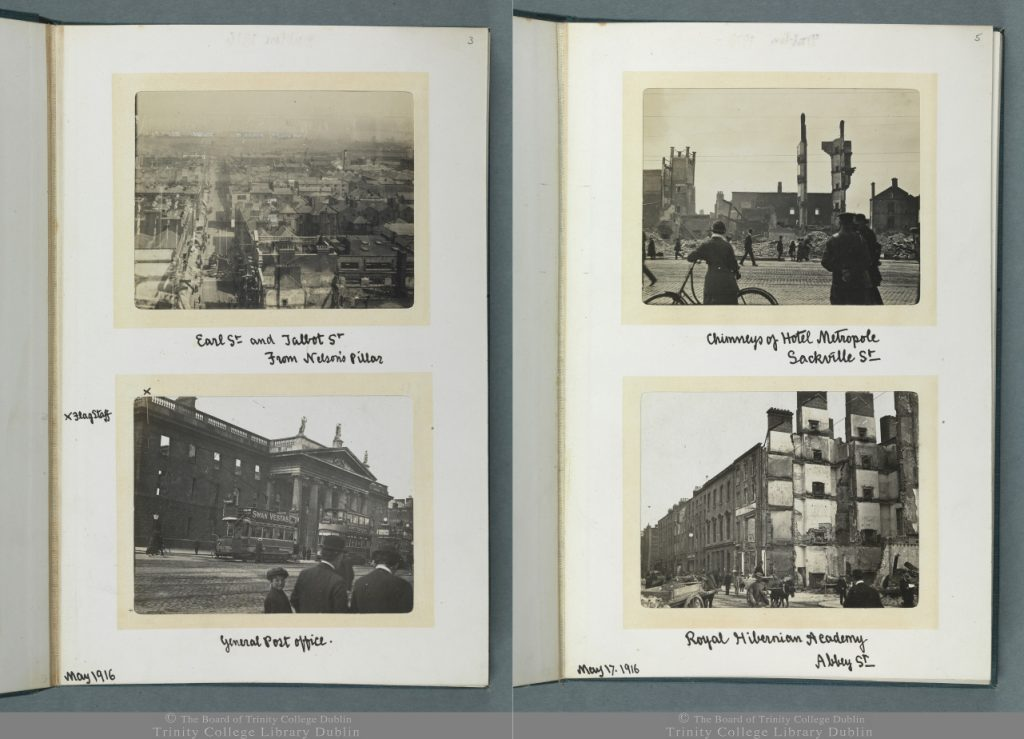 Images from 'Views of the Ruins of Dublin', Thomas J. Westropp