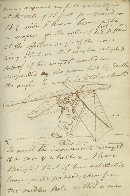 Page from Sir George Cayley's notebook - 'Sea' (1799-1811)