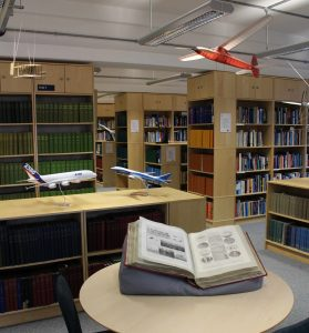 Photo of the interior of the National Aerospace Library