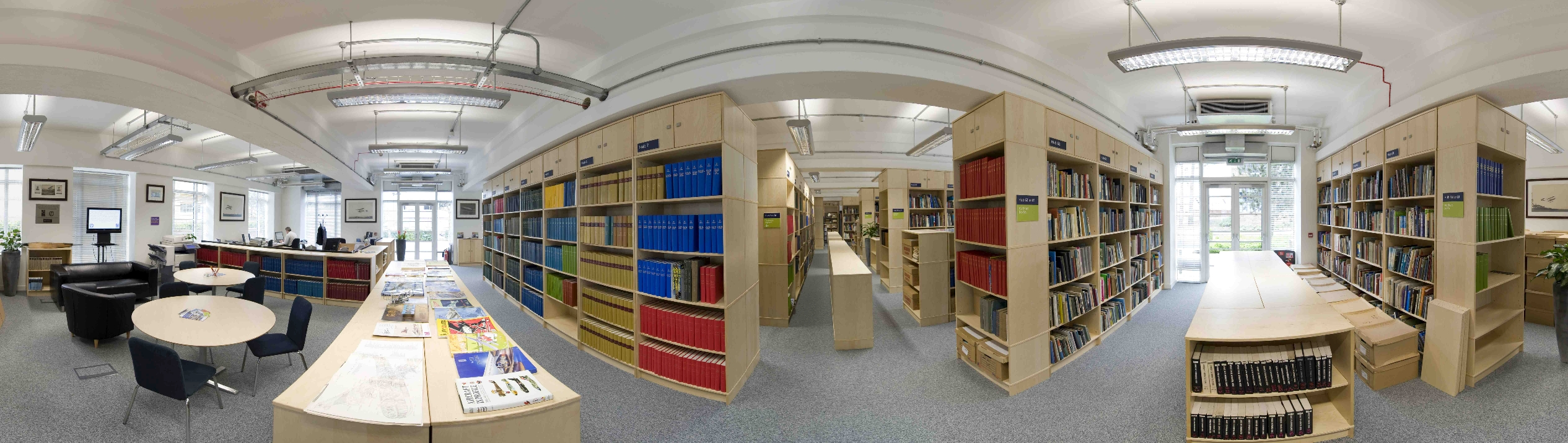 Photo of the National Aerospace Library reading room