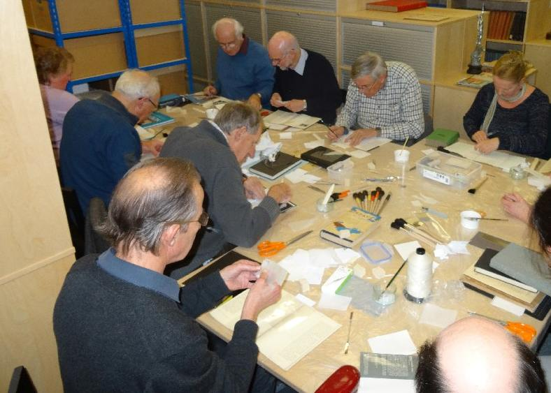 Photo of National Aerospace Library volunteers at work...