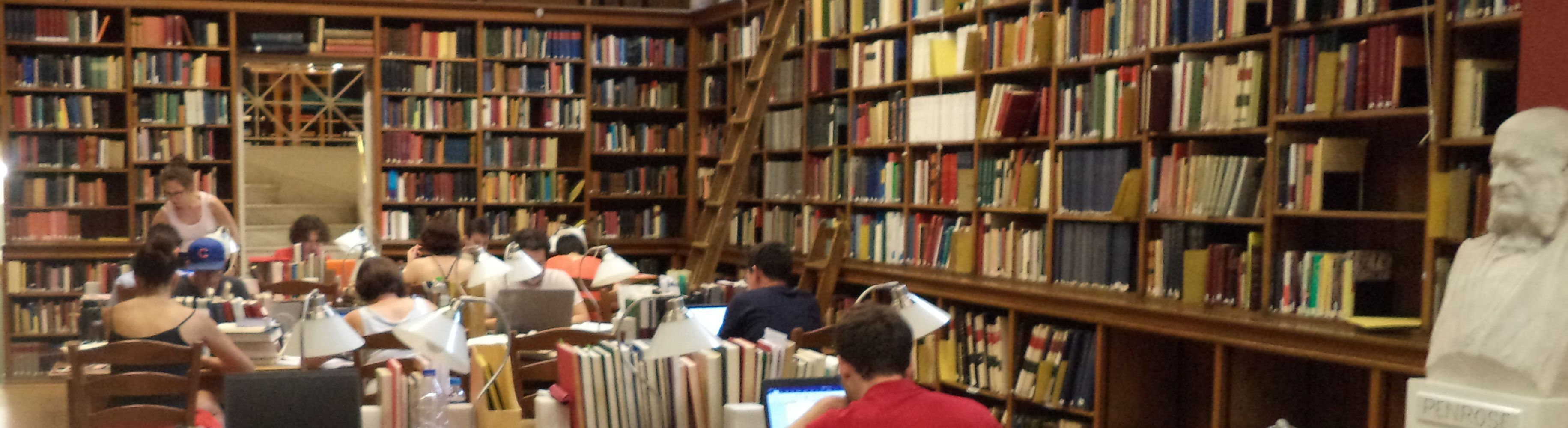 Photo of the reading room of the BSA's main library in Athens