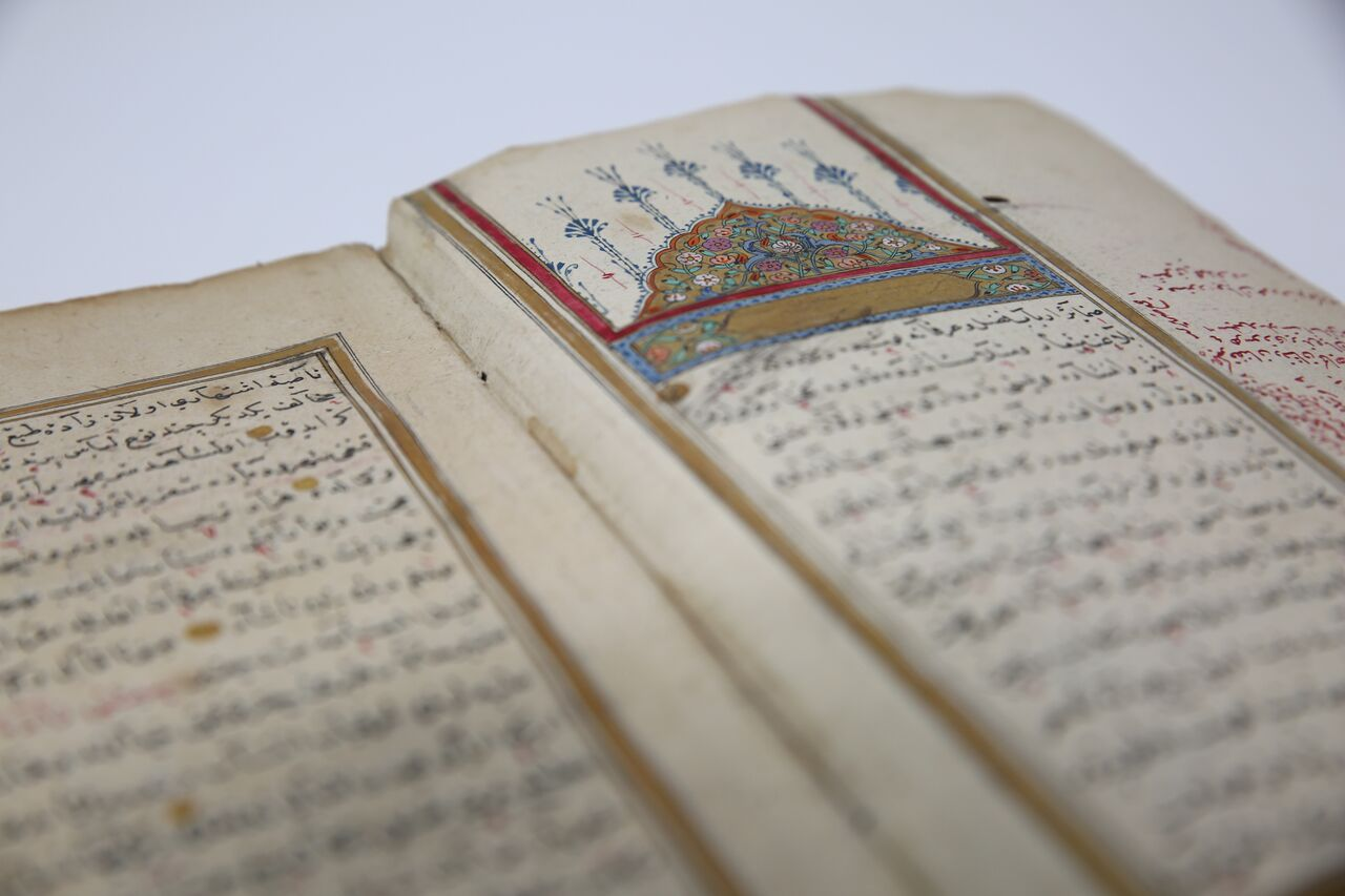 Illumination with flower motifs in an Ottoman manuscript (19th Century)